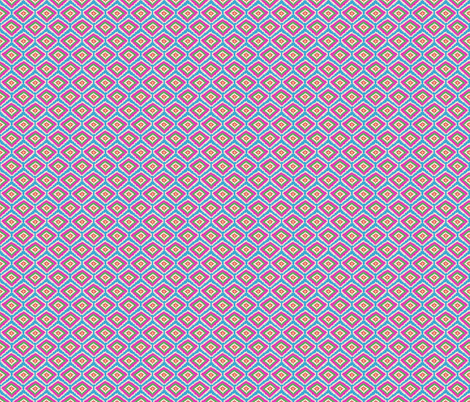 Aztec Fiber (pink blue) fabric by biancagreen on Spoonflower - custom fabric