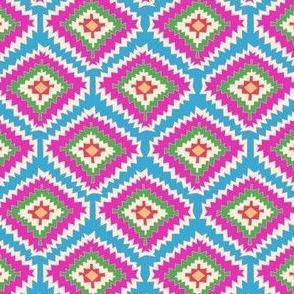 Aztec Fiber (pink blue)