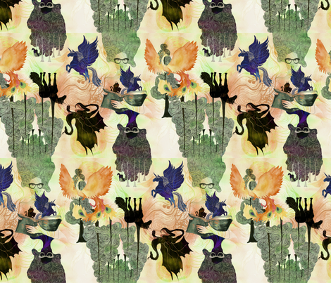 Unicorns_Dragons fabric by eeillustration&design on Spoonflower - custom fabric