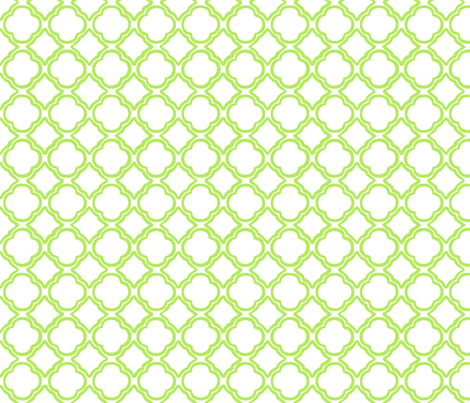Trellis Apple Green fabric by lulabelle on Spoonflower - custom fabric