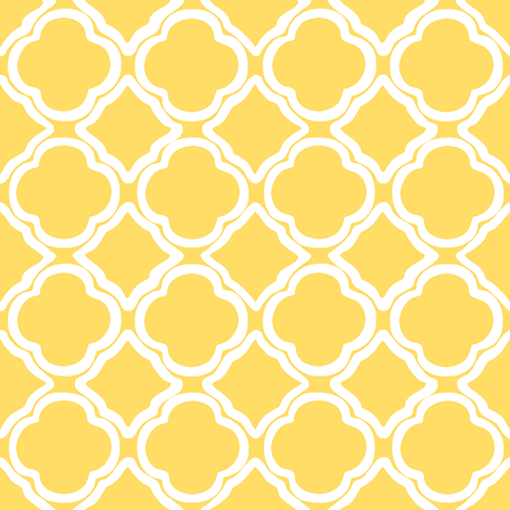 Trellis Yellow Fill fabric by lulabelle on Spoonflower - custom fabric