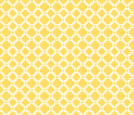 Penny's Trellis Sunshine fabric by lulabelle on Spoonflower - custom fabric