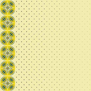 Moroccan Tiles 3 - Yellow-Blue