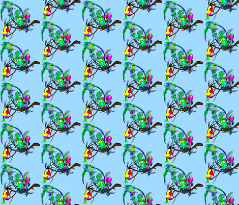 Parrots2 fabric by retroretro on Spoonflower - custom fabric