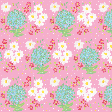 mother's day bouquet  fabric by fabricfarmer_by_jill_bull on Spoonflower - custom fabric