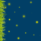 Fireflies In the Grass Border Print