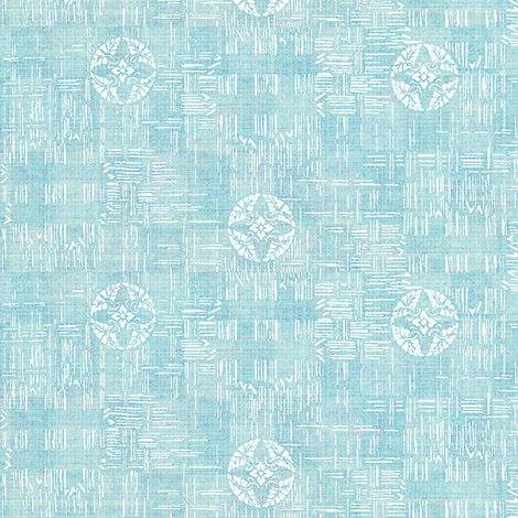 crossflower - light blue fabric by materialsgirl on Spoonflower - custom fabric