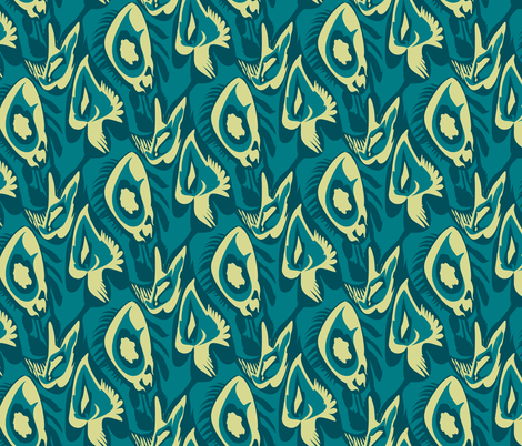 Air and Sea fabric by poshcrustycouture on Spoonflower - custom fabric