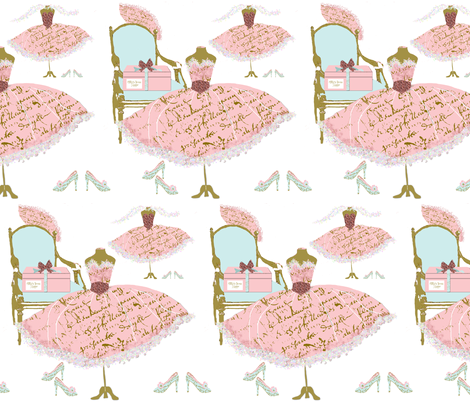 Mille's Dress Shoppe fabric by karenharveycox on Spoonflower - custom fabric