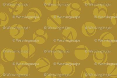 decimal ditsy, gold on bronze