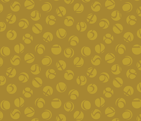 decimal ditsy, gold on bronze fabric by weavingmajor on Spoonflower - custom fabric