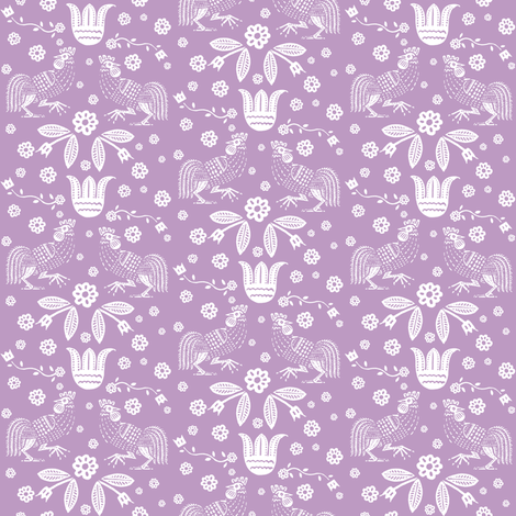 barnyard toile orchid fabric by keweenawchris on Spoonflower - custom fabric