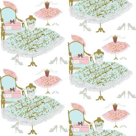 Millie's Dress Shoppe with Tiffany Blue fabric by karenharveycox on Spoonflower - custom fabric