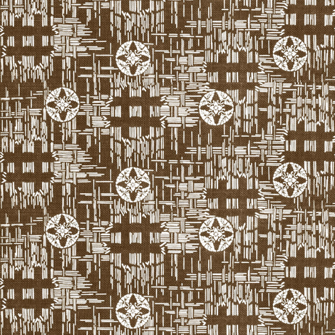 crossflower - brown/white fabric by materialsgirl on Spoonflower - custom fabric
