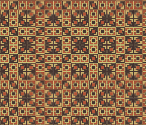 gold_mod_wall fabric by kikispike on Spoonflower - custom fabric