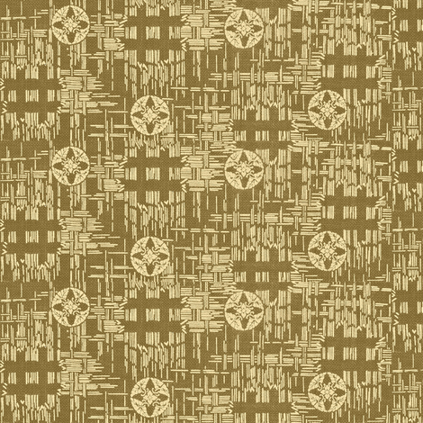 crossflower- khaki fabric by materialsgirl on Spoonflower - custom fabric