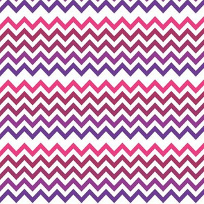 Chevron Fabric Purple Rainbow