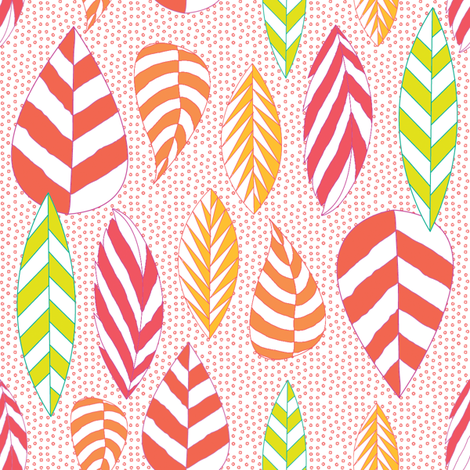 Sunrise to Sunset Leaves fabric by sandeehjorth on Spoonflower - custom fabric