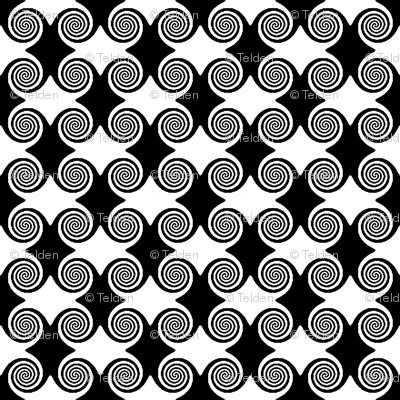 Hypno Ripples - Black and White