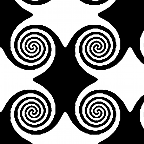 Hypno Ripples - Black and White fabric by telden on Spoonflower - custom fabric