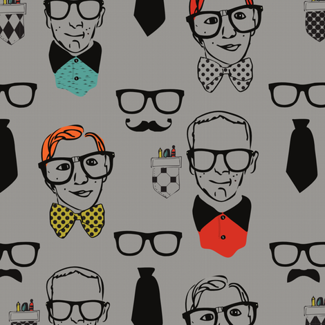 CHICKGEEK fabric by tammiegreen on Spoonflower - custom fabric