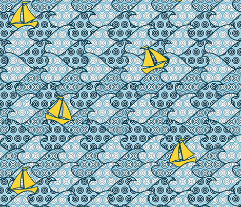 Floating in circles fabric by heleenvanbuul on Spoonflower - custom fabric
