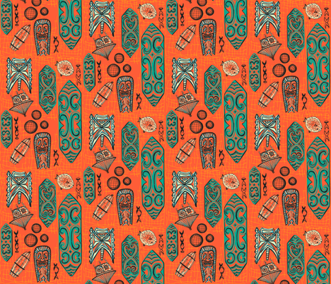 tigertail coral fabric by sophista-tiki_by_dawn_frasier on Spoonflower - custom fabric