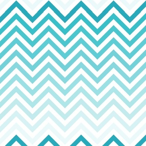 Ombre Chevron In Tiffany