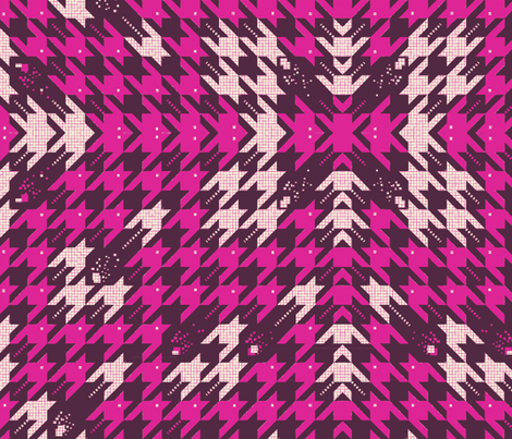 Houndstooth Invaders fabric by fable_design on Spoonflower - custom fabric