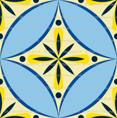 Moroccan Tile 2 - blue-yellow2