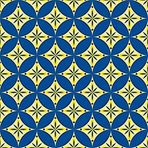 Moroccan Tiles 2 - blue-yellow3