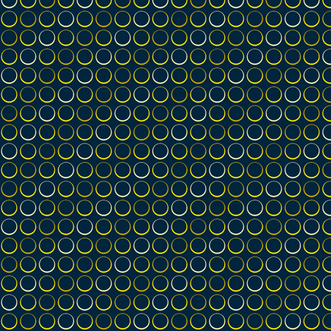 Circles - Blue-Yellow2 fabric by shannonmac on Spoonflower - custom fabric