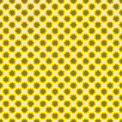 Dotty Dots - Yellow fabric by shannonmac on Spoonflower - custom fabric