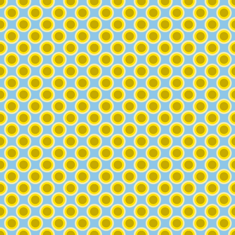 Dotty Dots - Blue-Yellow2 fabric by shannonmac on Spoonflower - custom fabric