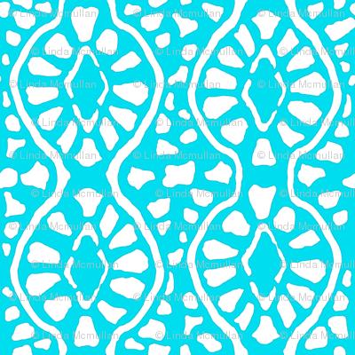 Cobblestone Trellis Turquoise