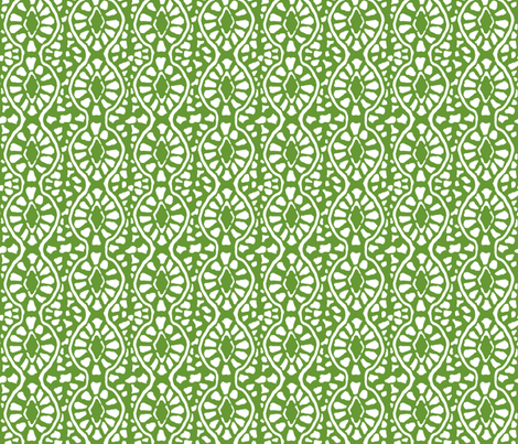 Cobblestone Trellis Green fabric by lulabelle on Spoonflower - custom fabric