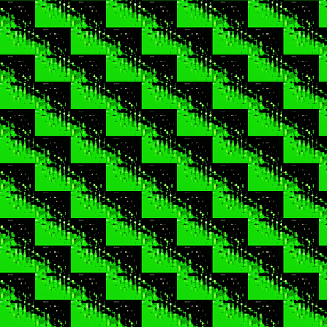 zig zag in green and  black fabric by dk_designs on Spoonflower - custom fabric
