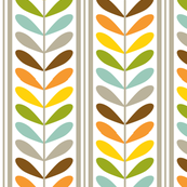 Large Colorful Striped Leaves