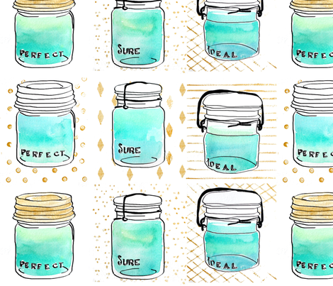 .a jar of water. fabric by emilysanford on Spoonflower - custom fabric