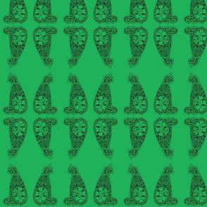 CatMeow - med - dark green