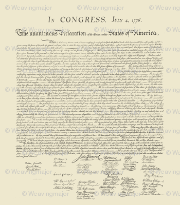 "10.5""x12"" (12/yard) declaration of independence"