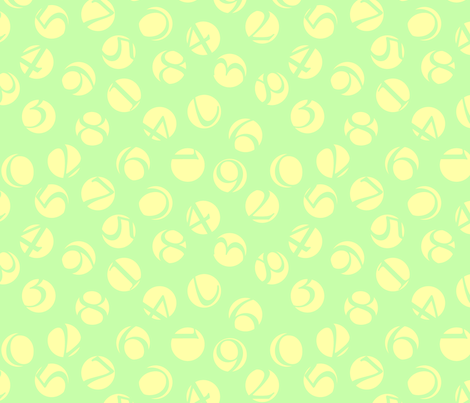 decimal ditsy, sweet lemon-lime fabric by weavingmajor on Spoonflower - custom fabric