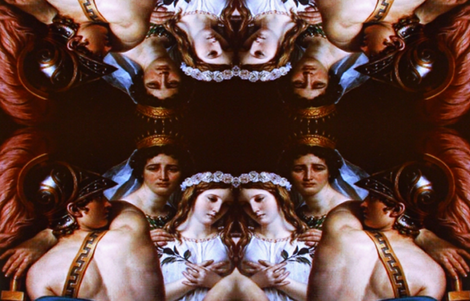 Perseus and the Maiden's Reflection fabric by nansi_mackintosh on Spoonflower - custom fabric