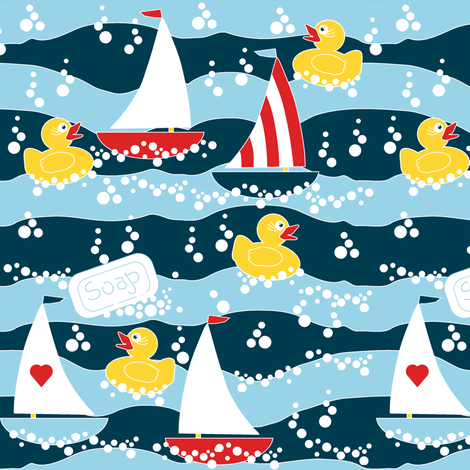 Clean Sailing Ducks spoonflower0188 fabric by eclectic_house on Spoonflower - custom fabric