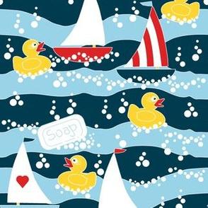 Clean Sailing Ducks spoonflower0188