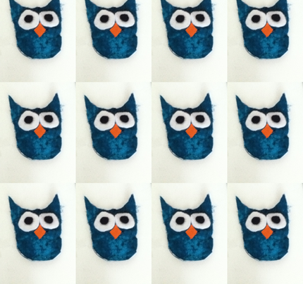 Blue Owl fabric by cloud_9 on Spoonflower - custom fabric