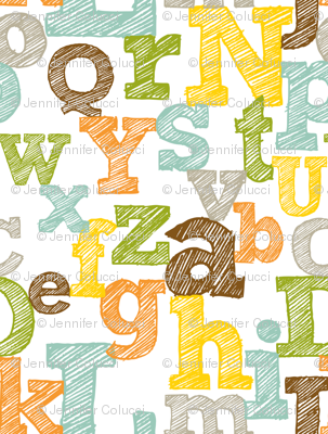 Colorful Sketched Alphabet