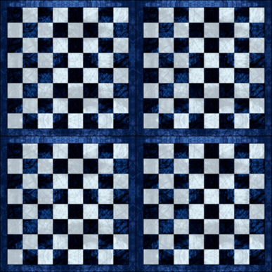Blue Checker Chess Board fabric by wren_leyland on Spoonflower - custom fabric