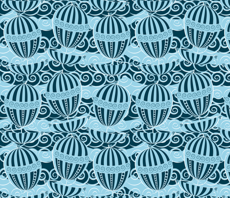 sailing blue fabric by kociara on Spoonflower - custom fabric