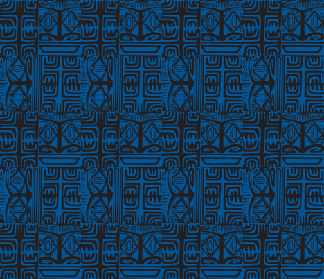 Kon Klassic  blue fabric by sophista-tiki on Spoonflower - custom fabric